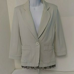 Anthropologie Cartonnier Tulle Trim Blazer SM